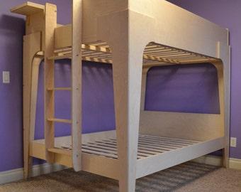 Modern full over full bunk bed