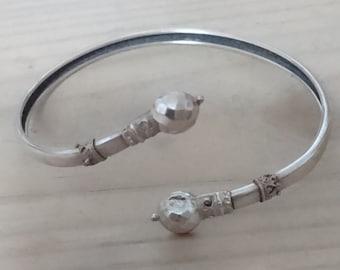 Vintage silver Victorian bangle