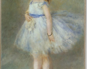 Dancer is a Renoir Ballerina Painting Impressionist Art on ready to hang Plaque from National Gallery of Art
