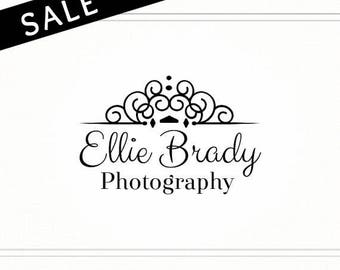 SALE Premade Photography Logo, Calligraphy Logo, Cheap Logo, Logo Design, Stamp Logo, Logo Watermark, Photographer Logo, Logo Sale - L090