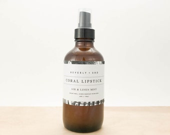 CORAL LIPSTICK Air and Linen Mist   Scented Room Freshener, Home Fragrance Spray