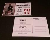 Reserved | Custom Graduation Invitation Postcard - Save The Date - Graduation Announcement 2017