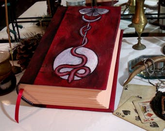 Serpent's Moon 500 Page Blank Book of Shadows, Hand Painted 6x9 Journal