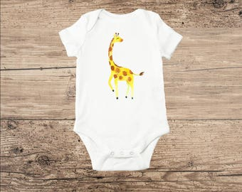 Giraffe Bodysuit, Cute Baby Clothes