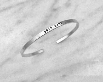 nasty woman jewelry, feminist gift, gift for her, gift ideas for women, skinny bracelet, custom bracelet