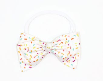 Sprinkle Party - Sprinkle Baby Shower - Sprinkle Birthday Party - Ice Cream Party - First Birthday Headband - Baby Headband - Toddler Bows