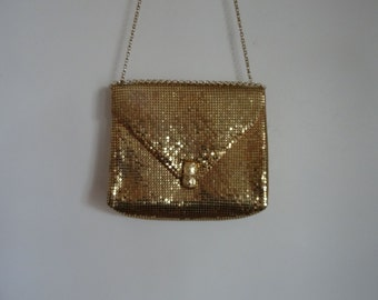 70's Gold Mesh Purse Whiting and Davis Shoulder Bag