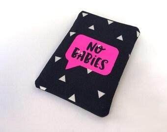 Birth Control Case - Pill Case Birth Control - Pill Cozy - No babies talk bubble in vinyl