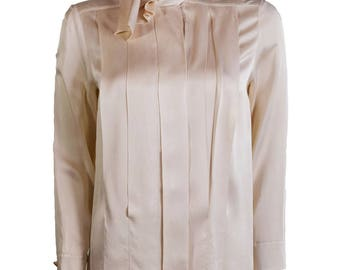 Vintage Chanel - Champagne Silk Blouse 1980s