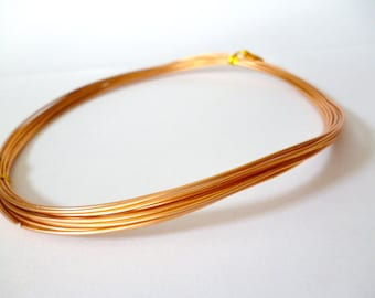 Light copper Tone Aluminum wire _PP87420097254_WIRES_ Copper Soft Aluminum of 1 mm pack 5 meters / 16,4 ft/ 5,47 yards