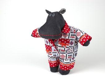 Soft doll stuffed animal -Gift for kids -Plush hippo -Dress up doll hippopotamus -I want a hippopotamus for Christmas -Gender neutral toy