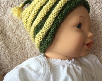 Baby Knit Hat, Baby Beanie Hat, Hand Knitted Baby Hat, Infant Hat, Knitted Hat for Babies