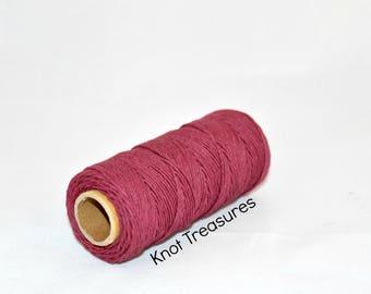Burgundy Hemp Twine, Burgundy 1mm Dyed Hemp Cords, Twine, Hemp Twine, Burgundy Strings