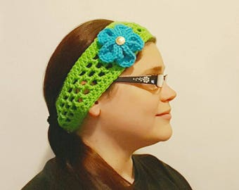 Mackenzie Spring Headband with Optional Flower - Various Sizes and Colors - Made-to-Order
