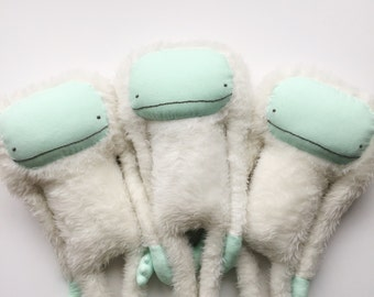 Yeti: Abominable Snowman, Snow Squatch, Yeti Monster, Snow Monster, Mythical Monsters, Mountain Creature, Giant Plush Animal, Soft Sculpture