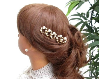 Handmade hairpins to the wedding, Bridal hair Neddles gold plated wedding hairpins jewelry