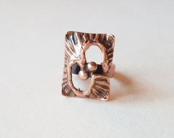 Karl Laine, Unusual Vintage Bronze Ring, Sten & Laine, Finland (F656)