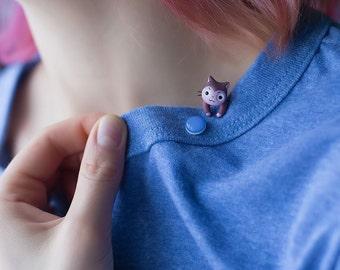 Lektor Cat Earring / Blue stud