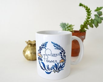 Queer Power Mug: LGBTQ, feminist mug, FREE SHIPPING