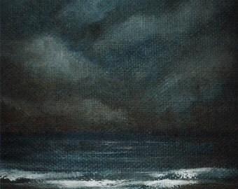 Breathe - Original oil on canvas Seascape Painting by Sam Lyle