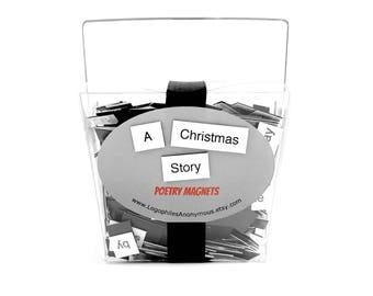 A Christmas Story Poetry Magnet Set - Refrigerator Poetry Word Magnets - Free Gift Wrap