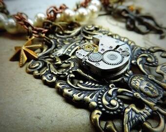 String of pearls steampunk Mermaid ornament
