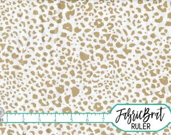 METALLIC GOLD CHEETAH Fabric by the Yard Fat Quarter Cheetah Fabric Gold Metallic Fabric Quilt Fabric Apparel Fabric 100% Cotton Fabric a2-9