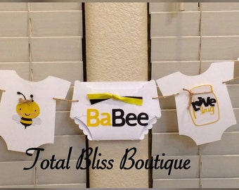 Bee Baby Shower Banner Bumble Garland Mommy To