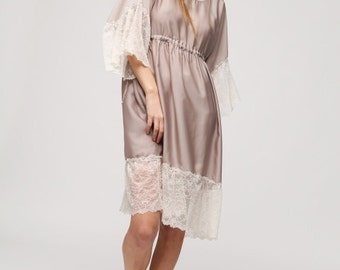 Bohemian Dress Lace Shabby Chic Summer Silky