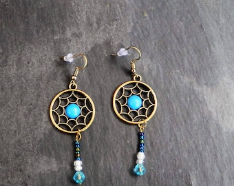 Turquoise Drop Earrings, gift for her, pair of earrings for a wife, birthday gifts, jewelry gift, jewellery gift idea, for a best friend,