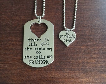 grandpa gift, gifts for grandpa, grandpa, grandpas, grandpa necklace, grandfather gift, grandfather necklace, grandfather, silver necklace