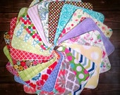 Cloth Wipes Set of 20, 2-Ply Cloth Wipes, Cloth Napkins, Family Cloth, Washcloths, Facial Wipes, Flannel and/or Terry, Durable, Long Lasting