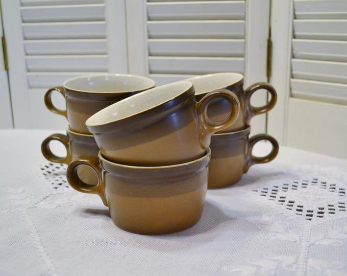 Vintage Mikasa Potters Art Cup Set of 6 Buckskin Ben Seibel Replacement PanchosPorch