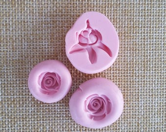 Silicone rubber Mold for resin flowers Roses set