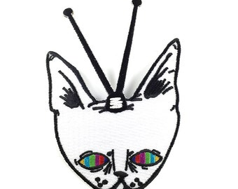 TV CAT - embroidered patch