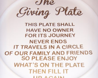 how to make a giving plate