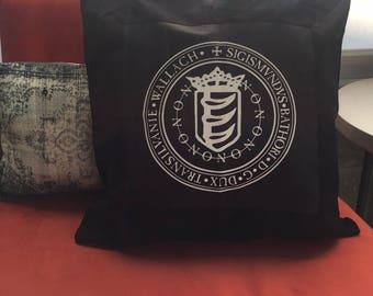Báthory Crest Throw Pillow // Horror Home Decor