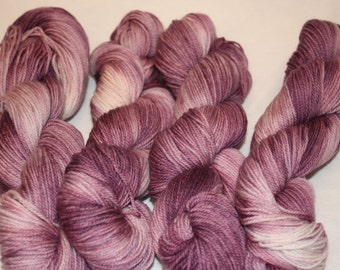 Superwash Hand Dyed Sock Yarn:  Lilac Fairy
