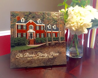 Personalized House Portraits// Custom House Painting// Housewarming gift// First Home//Anniversary//Real Estate Closing Gift//Parents Gift
