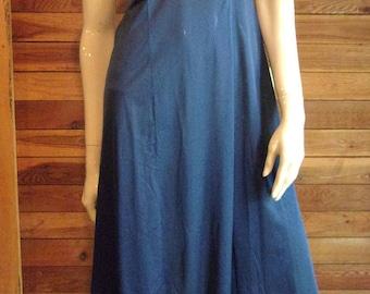 Vintage Lingerie 1970 VANITY FAIR Navy Blue Size 34 Full Slip