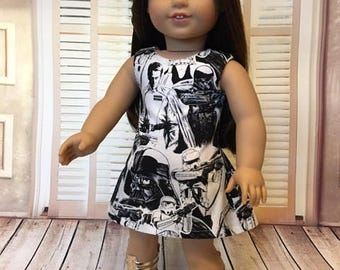 Space Movie Dress fits American Girl and 18 inch dolls