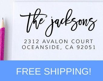 Custom Return Address Stamp, Self Ink Return Address Stamp, Personalized Address Stamp, Self Ink Custom Address Stamp  (D239)