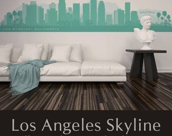 Skyline decal etsy for Real estate office wall decor