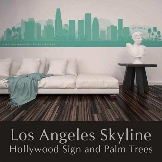 Los Angeles California Skyline Wall Decal Art Vinyl Removable