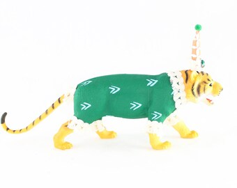 """Party Animal """"Will"""" The Tiger- painted carnival, circus, and birthday decor, cake topper"""