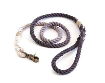 6 FT Wolf Grey Ombre Rope Dog Leash