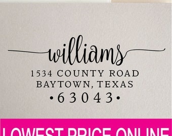 Return Address Stamp - Personalized Custom Stamp - Self Inking Stamp - Custom Rubber Stamp - Personalized Address Stamp RE823