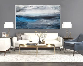 "78"" x 44"" Overscale ABSTRACT PAINTING,ORIGINAL, Landscape, Large painting, Acrylic on canvas"