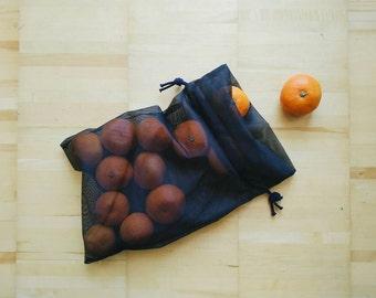 Reusable Mesh Bag with Drawstring, Mesh Produce Bag, Mesh Market Bag, Mesh Laundry Bag, Mesh Storage Bag