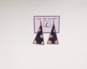 Beautiful stained glass effect earring